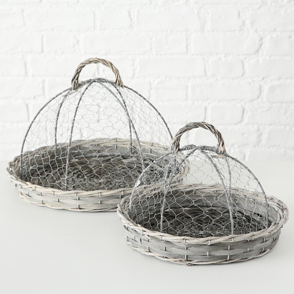 Willow Tray with Dome