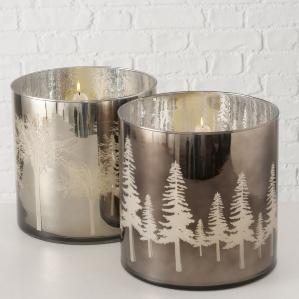 Mirrored Tree Windlight