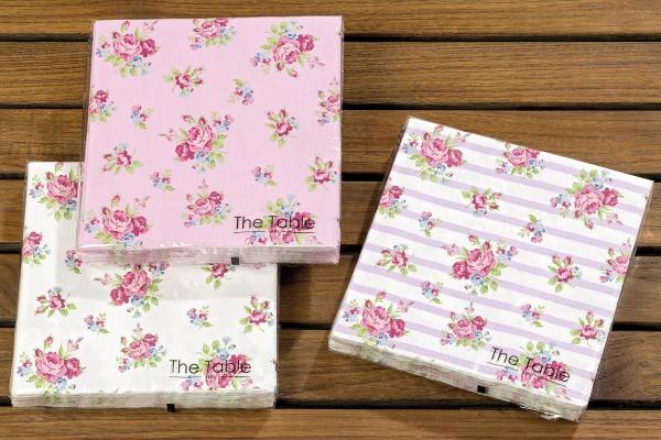 Rose Paper Napkins