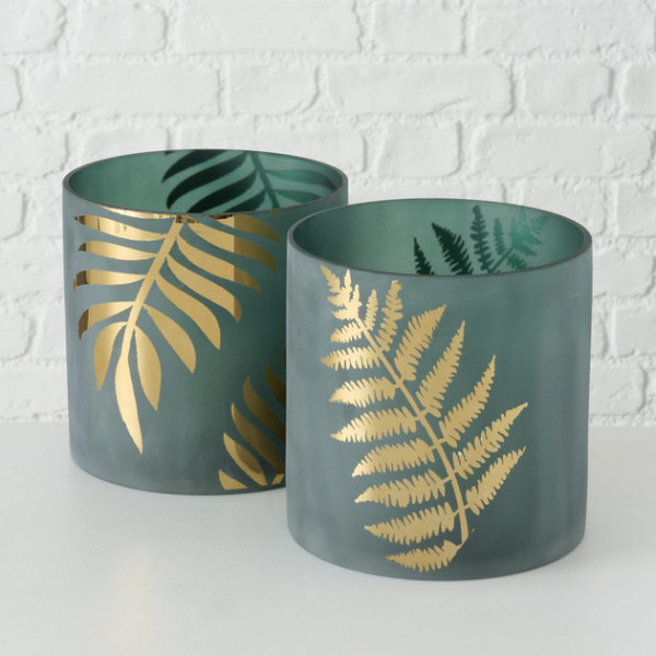 Palm Leaf Windlight
