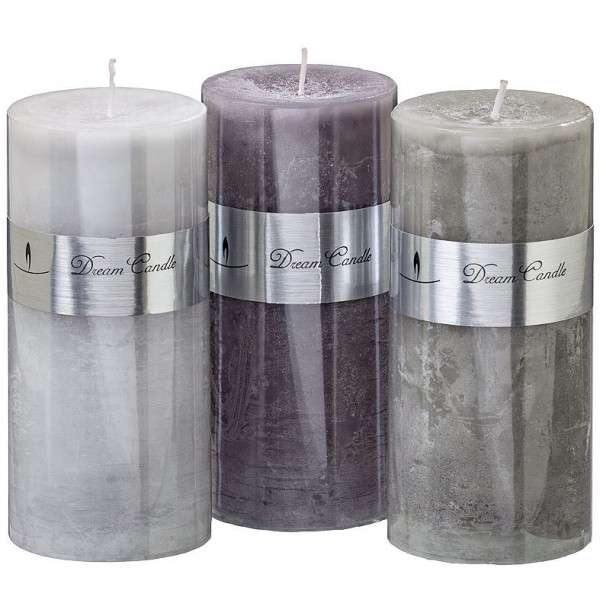 Marble Effect Pillar Candle