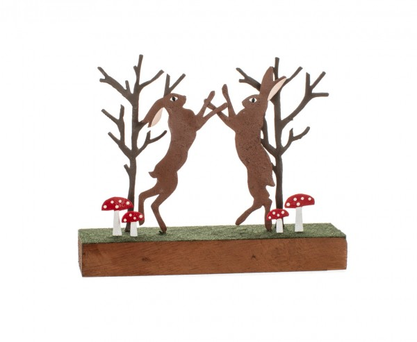 Rustic Boxing Hares