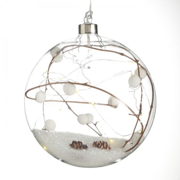 LED Glass Ball Hanger