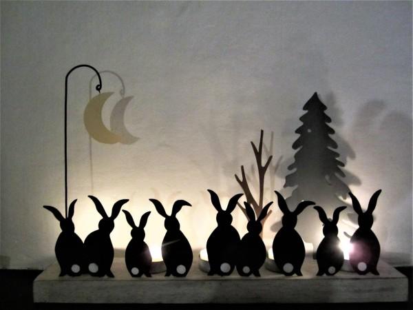 Moon Struck Rabbits Votive