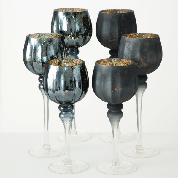 Set 3 Tall Candle Goblets