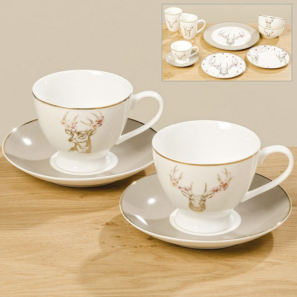 Reindeer Cup and Saucer