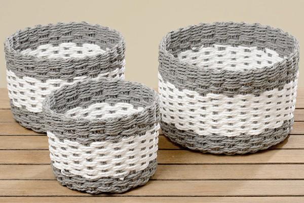 Grey & White Basket
