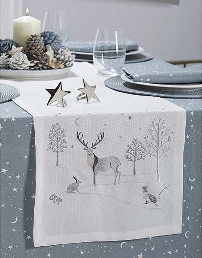 Embroidered Stag Runner