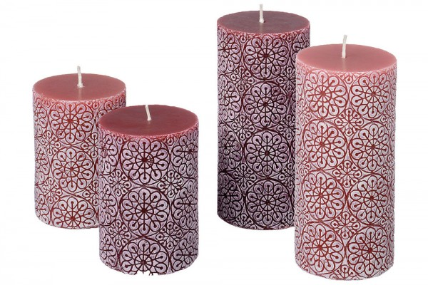 Embossed Pillar Candle