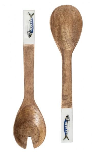 Mackerel Design Serving Spoons