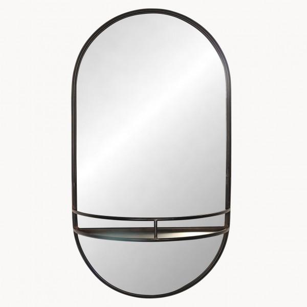 Fairfield Iron Shelf Mirror