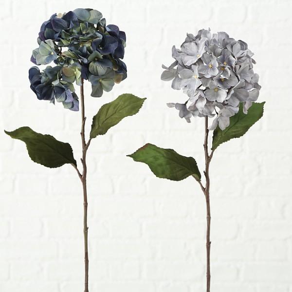 Faux Blue Hydrangea Stem