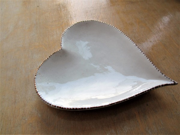 Gold Edged Heart Dish