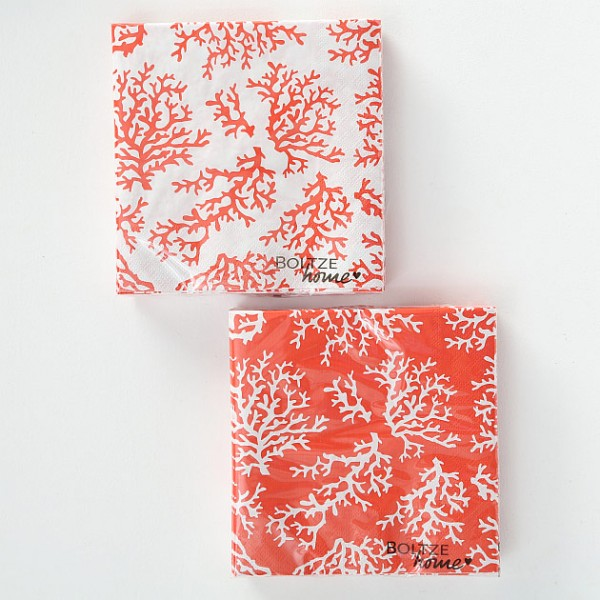Paper Napkins Coral