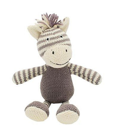 Knitted Zebra Rattle