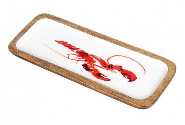 Lobster Mango Wood Dish