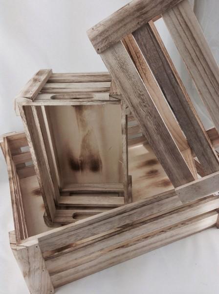 Set of Wooden Crates