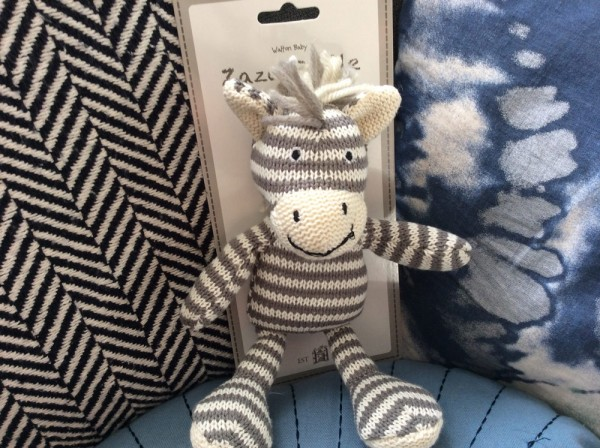 Nursery Zebra Rattle Zaza