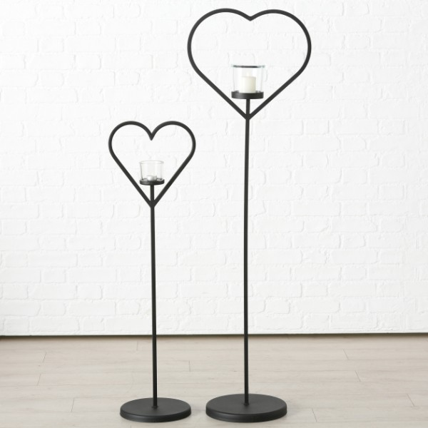 Floor Standing Heart Windlight