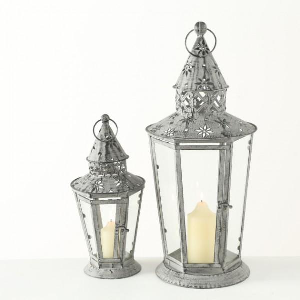 Rustic Fretwork Lantern