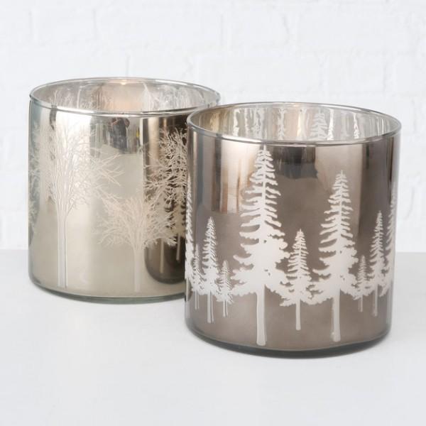 Mirrored Glass Windlight
