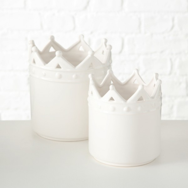 White Crown Planter