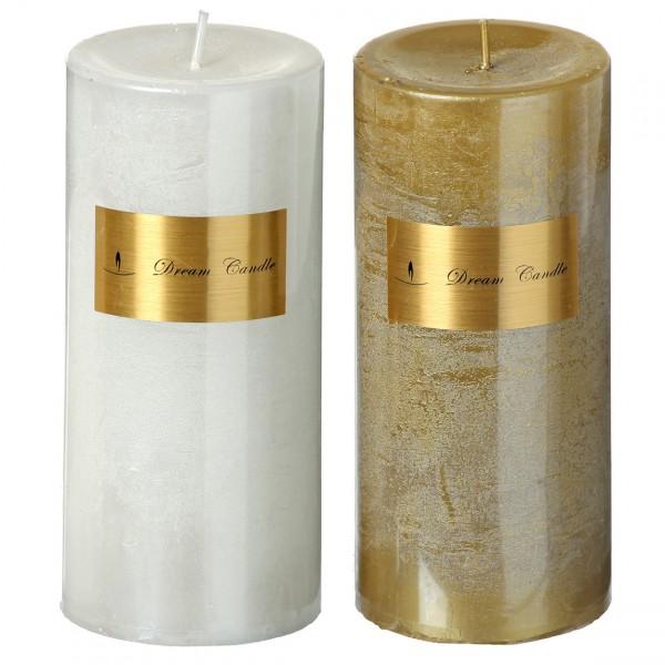 Metallic Pillar Candle