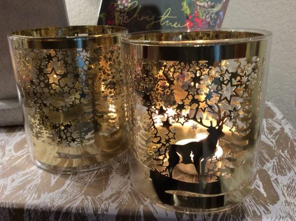 Gold Filigree Windlight