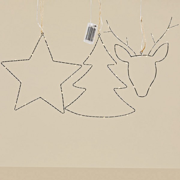 LED Wire Christmas Hanger