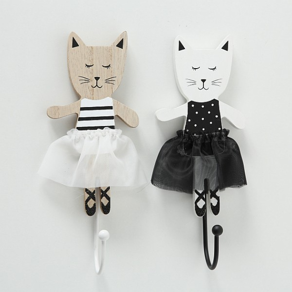 Ballett Kitty Wall Hooks