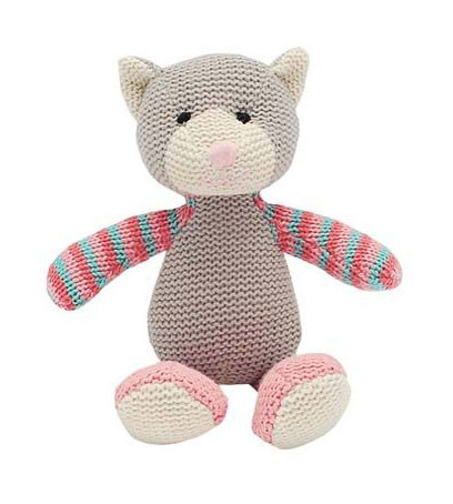 Knitted Cat Rattle Katie