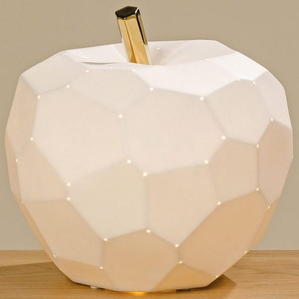 White Apple Lamp