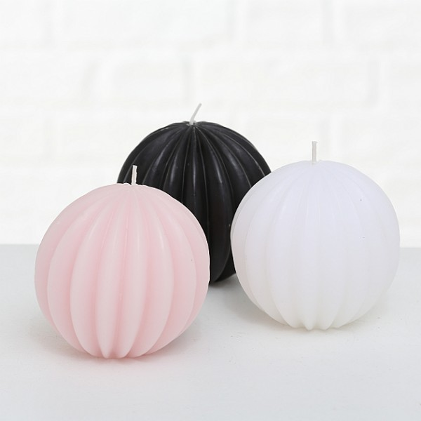 Grooved Ball Candle