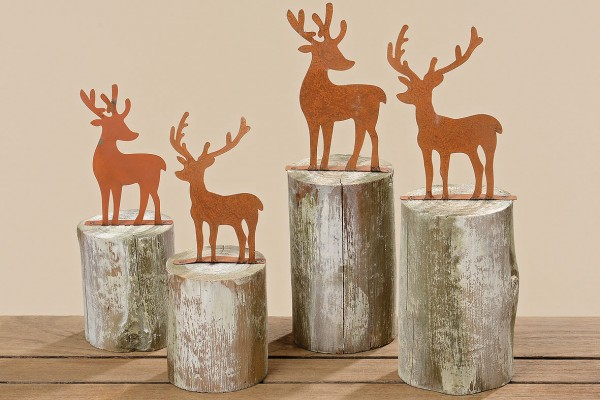 Reindeer on Log
