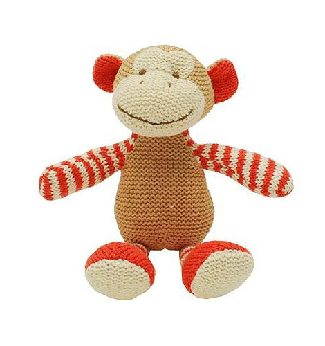 Knitted Monkey Rattle