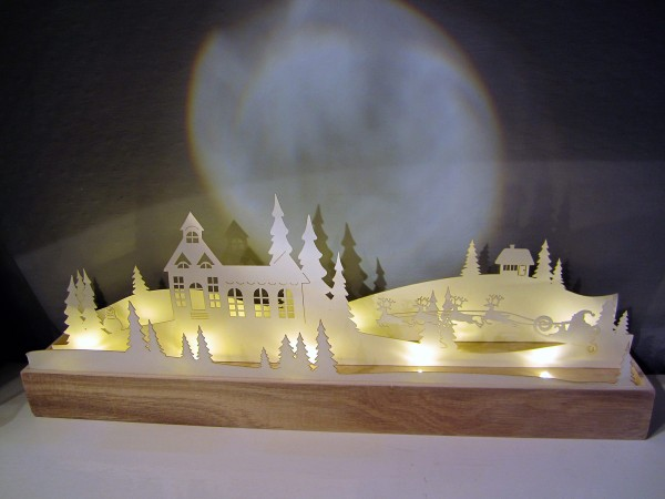 Illuminated Christmas Scene