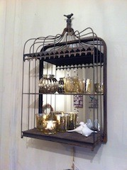Vintage Bird Cage Shelf