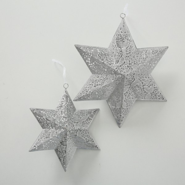 Sparkle Silver Hanging Star