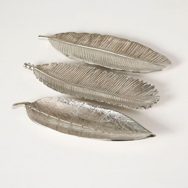 Silvered Leaf Deco Plate