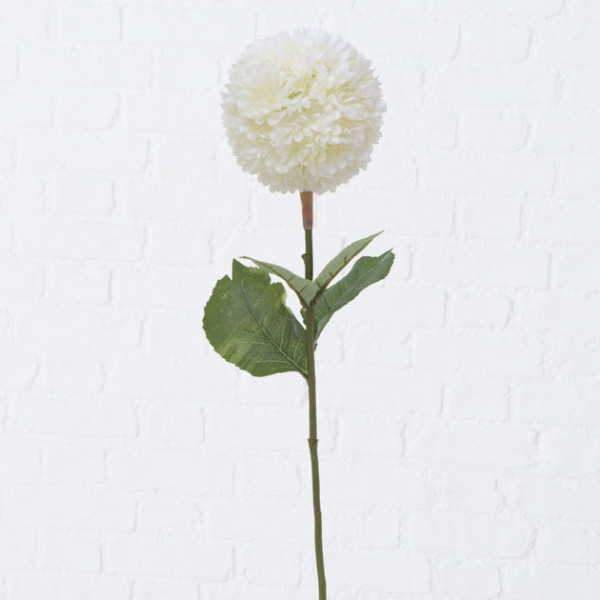 White Faux Snowball Flower