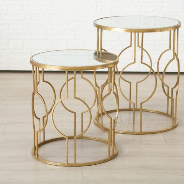 Patterned Side Tables