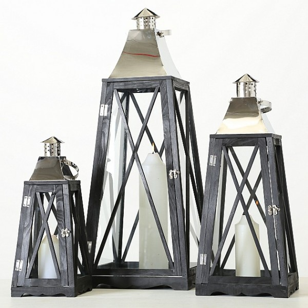 Chrome Top Lantern