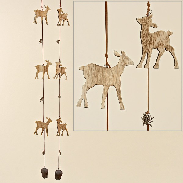 Wooden Deer Garland