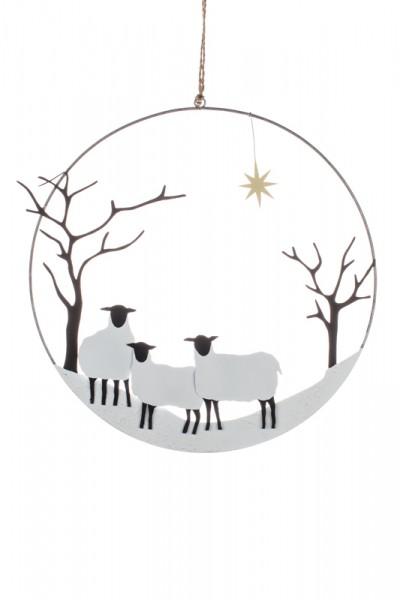 Winter Sheep Wreath
