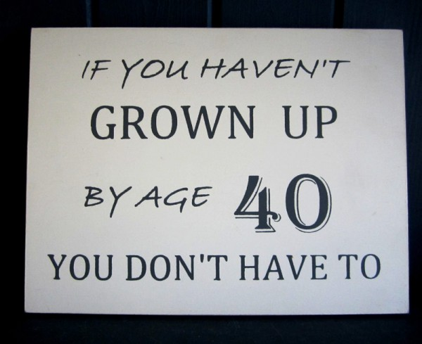 40 Wall Sign