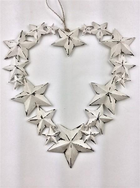 Heart Star Wreath