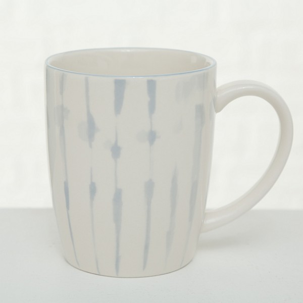 Aqua Blue Abstract Mug