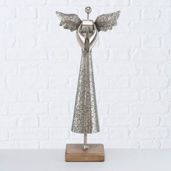 Standing Silvered Angel